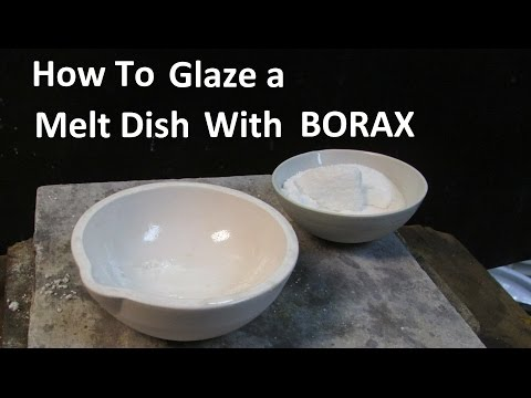 Gold Melting How To Glaze A Melt Dish Crucible With Borax