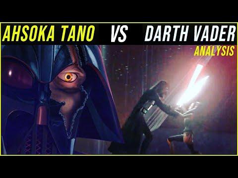 Ahsoka Tano vs Darth Vader | Lightsaber Duel Analysis