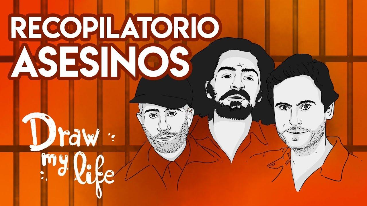 Los PEORES ASESINOS SERIALES: CHARLES MANSON, ED GEIN, LOCUSTA, TED BUNDY...   Draw My Life