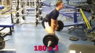 Бухарин Александр 15 лет становая тяга 165х5, 175х3, 180х3