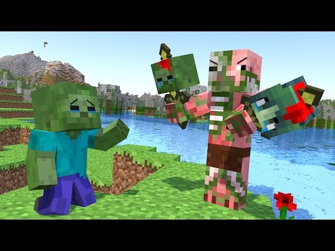 Mobs vs Hell Mobs / Spider Life 1 2 - Minecraft Animation