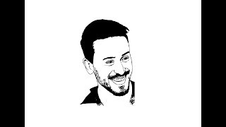 How to Draw Tiger Shroff face pencil drawing step by step