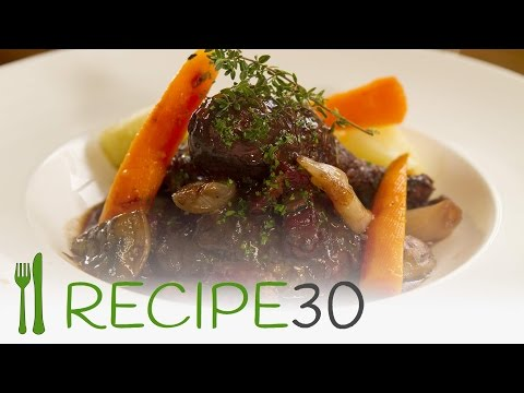 Classic French dish you can make! Chicken in red wine - COQ AU VIN -  By RECIPE30.com