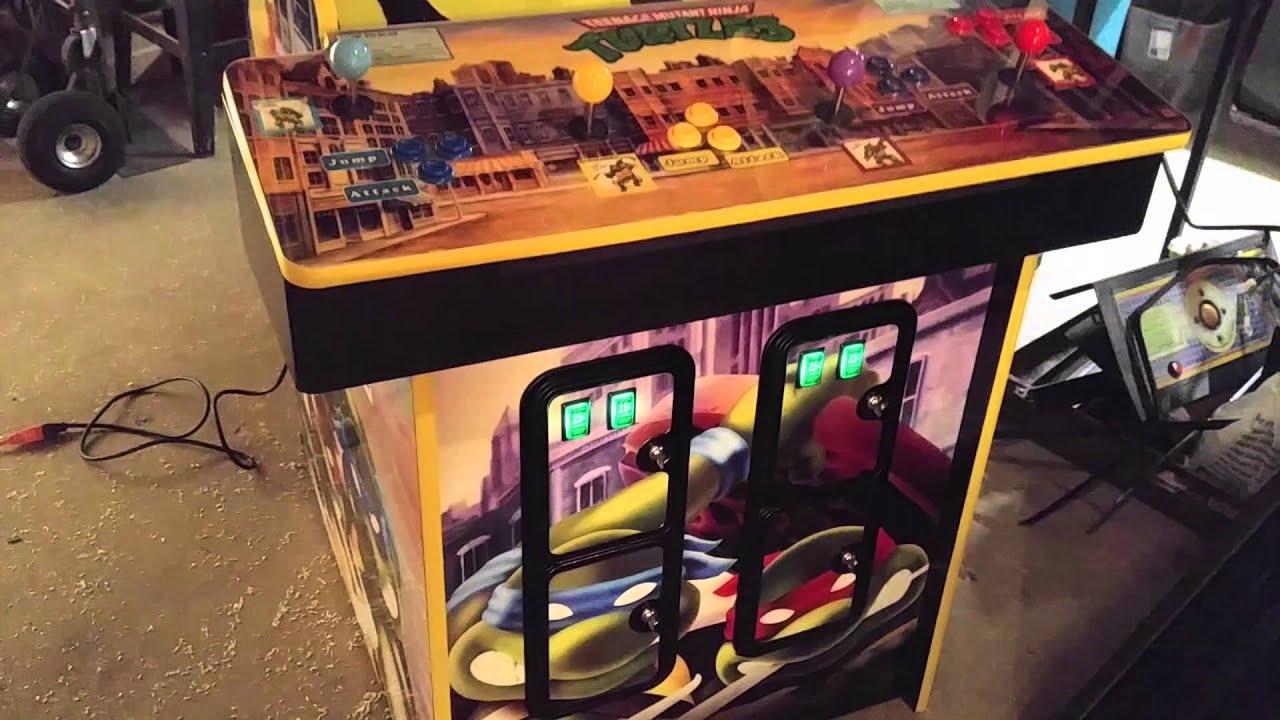 Ninja Turtles Arcade Cabinet Custom Tmnt Arcade Youtube