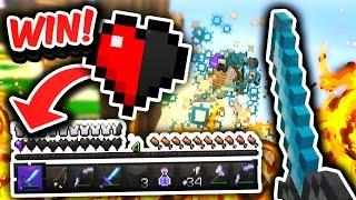 Half a Heart WIN! (Minecraft Skywars)