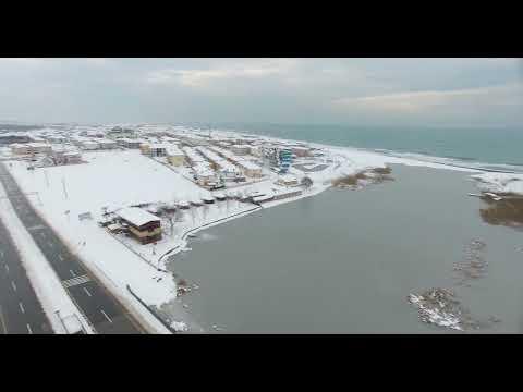 karasu küçükboğaz gölü buz tuttu, müthiş bir görüntü 4k