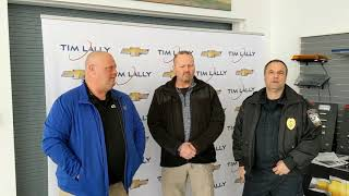 Chief Turner and Lt. Mastroianni of Willowick Police Department on Tim Lally SAVE - Tahoe SSV