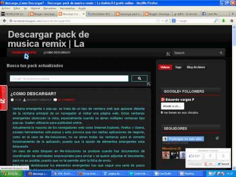COMO DESCARGAR PACK DE MUSICA REMIX DE LA MALETA DJ