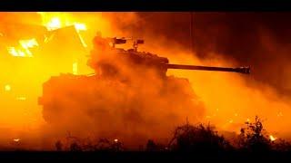 """Брэд Питт на Sherman M4 """"Fury"""" в World of Tanks"""