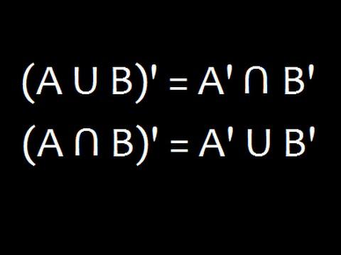 Set Theory  De Morgan\u0027s law Part 1 Venn Diagram - YouTube