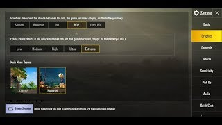 mix setting pubg mobile Graphics HDR and Fame Rate Extreme samsung galaxy s8 s8+