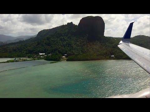 CRAZY Hard Landing! United Airlines B737-800 - Kosrae to Pohnpei