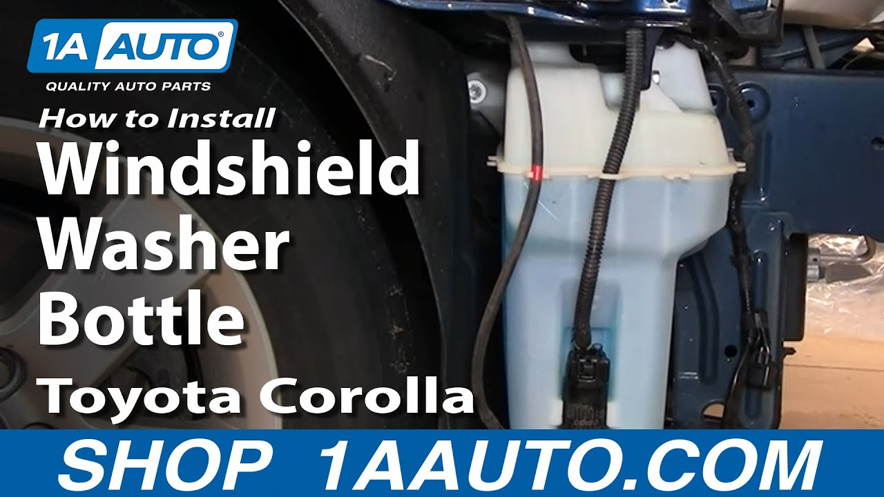 how to replace windshield washer reservoir 03 08 toyota corolla [ 1280 x 720 Pixel ]