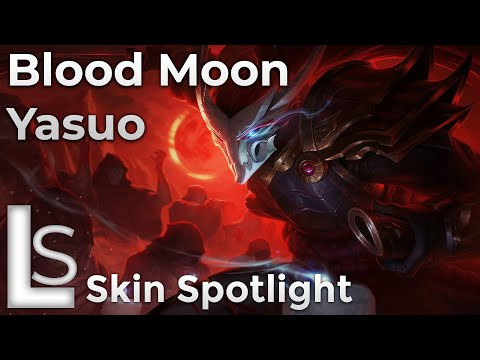 Blood Moon Yasuo - Skin Spotlight - Blood Moon - League of Legends - Patch 10.13.1