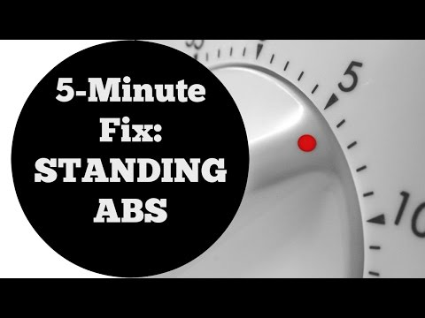 5 Min Fix: Standing Abs Workout For All Levels No Equipment Home Fitness