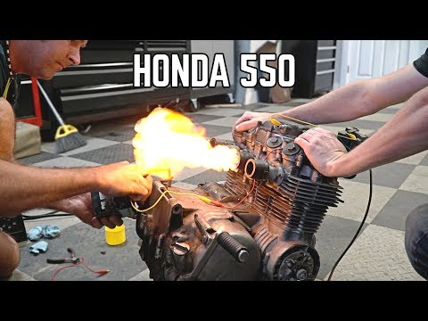 Honda CB550 Will it Start? Cross Kart Pt. 3