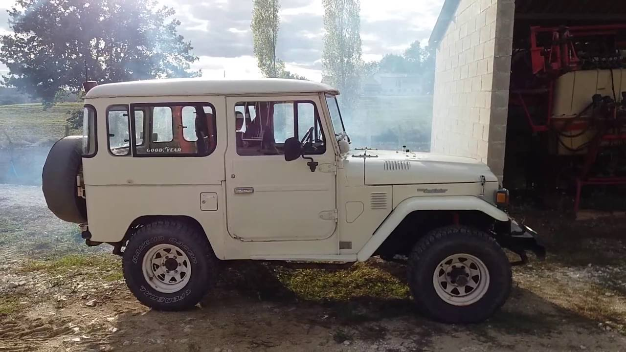 Bj 40 Toyota Land Cruiser, Starting Old Diesel