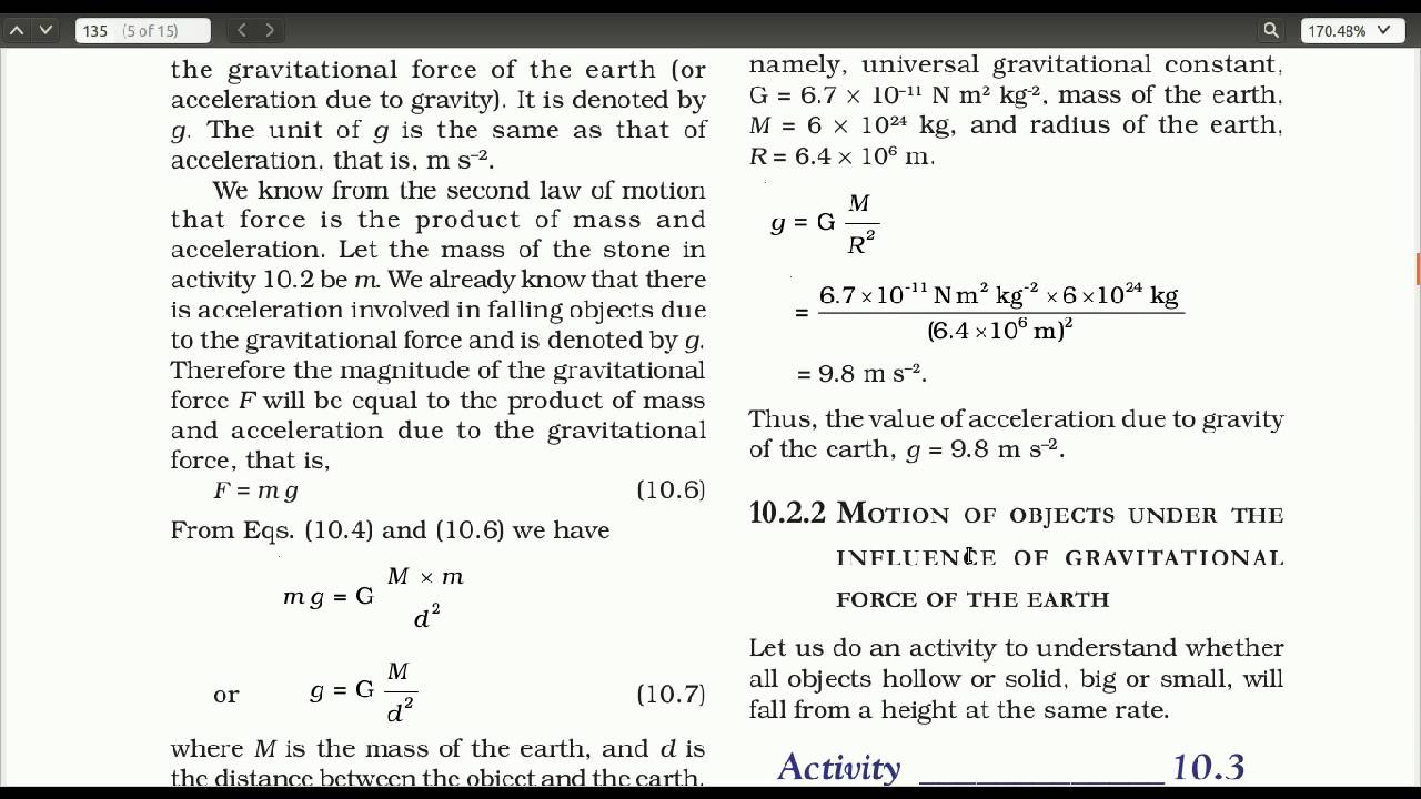 Gravitation - CBSE Class 9 Science - Chapter 10 - Part 2 - (in ...