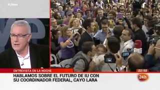 """Entrevista a Cayo Lara en """"La noche en 24H"""" (Canal 24 Horas 20.11.2014)"""