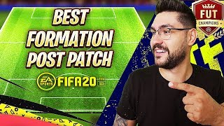 FIFA 20 POST PATCH BEST FORMATION TUTORIAL - BEST TACTICS & INSTRUCTIONS FOR 4-2-2-2
