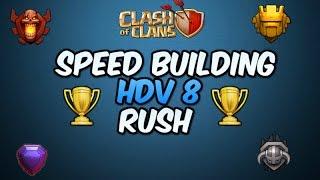 VILLAGE HDV8 RUSH/GDC!!   CLASH OF CLANS