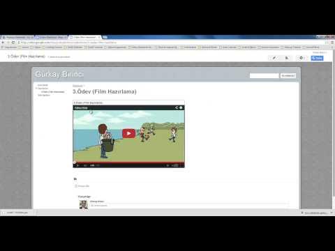 3-Google Sites Sayfasına Sunu Dosyası Ekleme