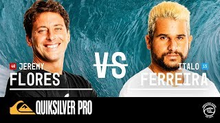 Can Jeremy Flores beat Italo Ferreira in Quiksilver Pro France?