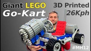 Giant LEGO R/C Go-Kart 3D Printed! - Mantis Hacks E12