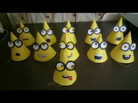 How to make customized party caps (Minion Theme)