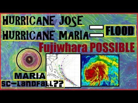 "Hurricane JOSE  MARIA N.EAST Flooding. Possible South Carolina Landfall ""fujiwhara"" still in PLAY!"