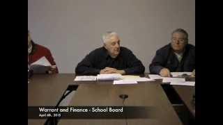 Warrant and Finance - School Board - 04-06-2015