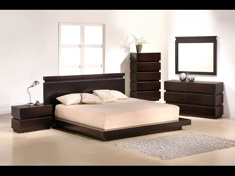 Contemporary Double Bed Frame Designs - YouTube