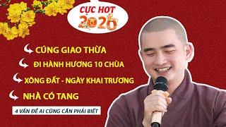 ► 4 câu hỏi CỰC HAY đầu năm mới (ai cũng phải biết) - ĐĐ. Thích Minh Thiền (14.01.2020)