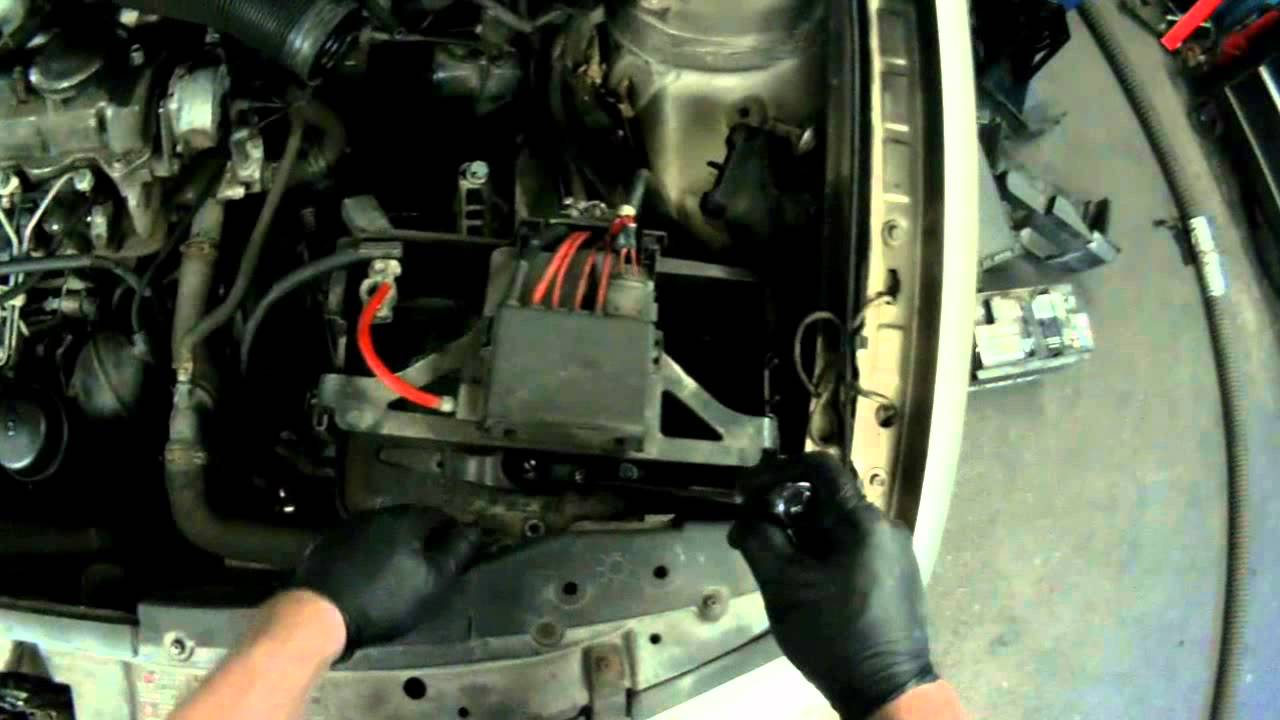 alh tdi 4 wire glow plug harness removing part 1