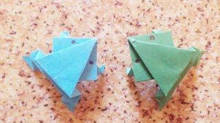 Как сделать прыгающую лягушку из бумаги! Оригами Лягушка- How to Make Action Origami Jumping Frogs