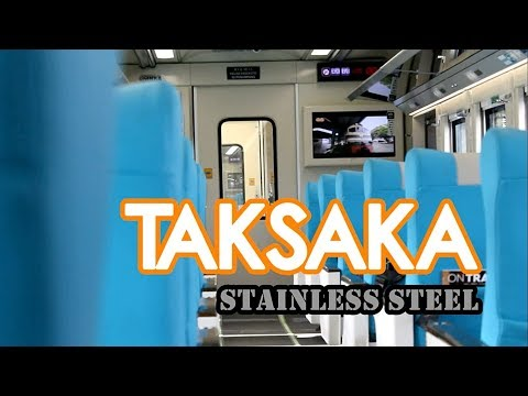 #MASDAVLOG71   Naik Kereta Api Eksekutif PALING BARU tahun 2018 - TAKSAKA Stainless Steel