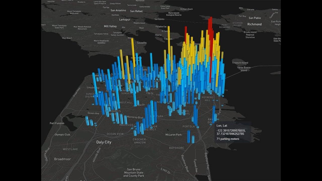 Deck gl hexagonlayer heatmap 3D map data visualization demo