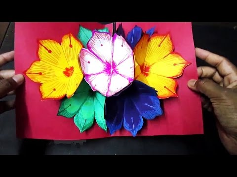 New year Pop-Up Greeting Card Making Ideas - Amazing DIY Handmade Paper Card Idea
