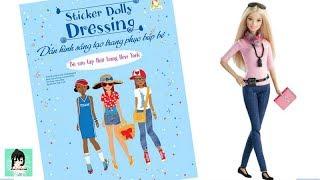 Dán hình sáng tạo trang phục búp bê #6- THỜI TRANG NEW YORK Sticker Dolly Dressing Ami Channel
