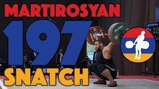 Simon Martirosyan (~111) - 197kg Snatch (ties European Junior record) [4k]