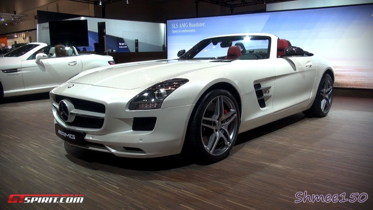 Mercedes SLS AMG Roadster Dubai Motorshow 2011 with GTspirit