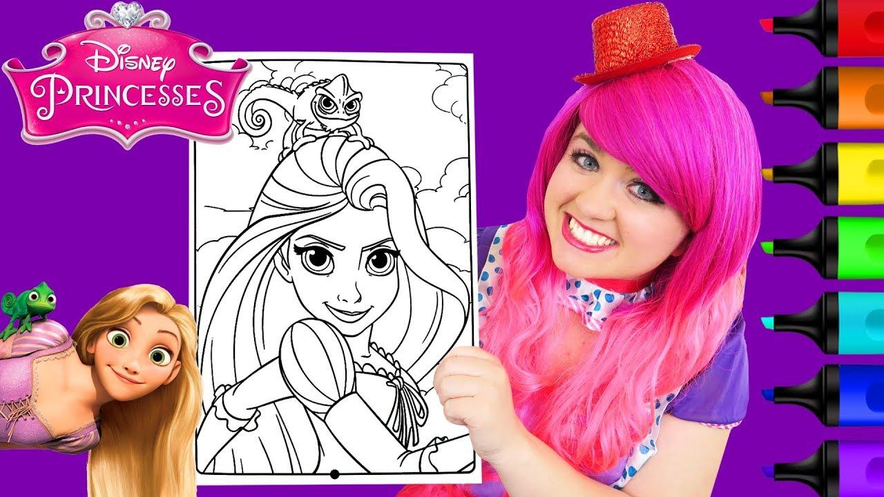 Coloring Rapunzel Tangled Disney Princess Coloring Page Prismacolor ...