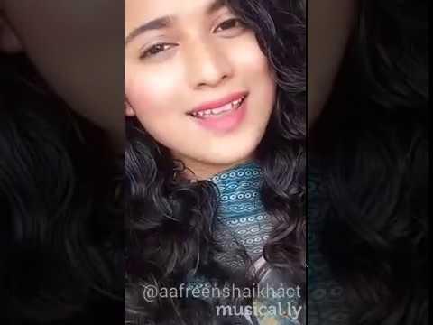 Dil Diya Gallan Beautiful Musical.ly In Female Version   Aafreen Shaikh
