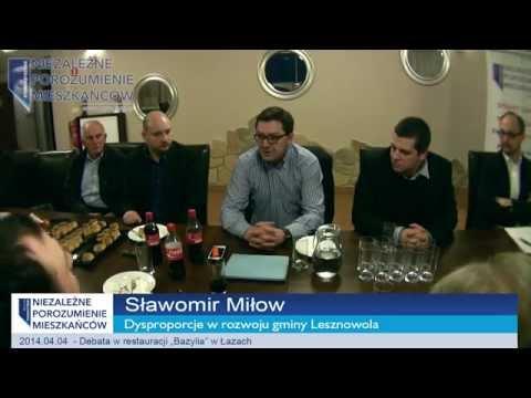Debata NPM w Łazach pt. Dysproporcje w rozwoju gminy Lesznowola cz. 1/4
