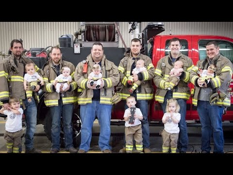 Fire Department Celebrates 6 Babies Born In 7 Months With Touching Photoshoot