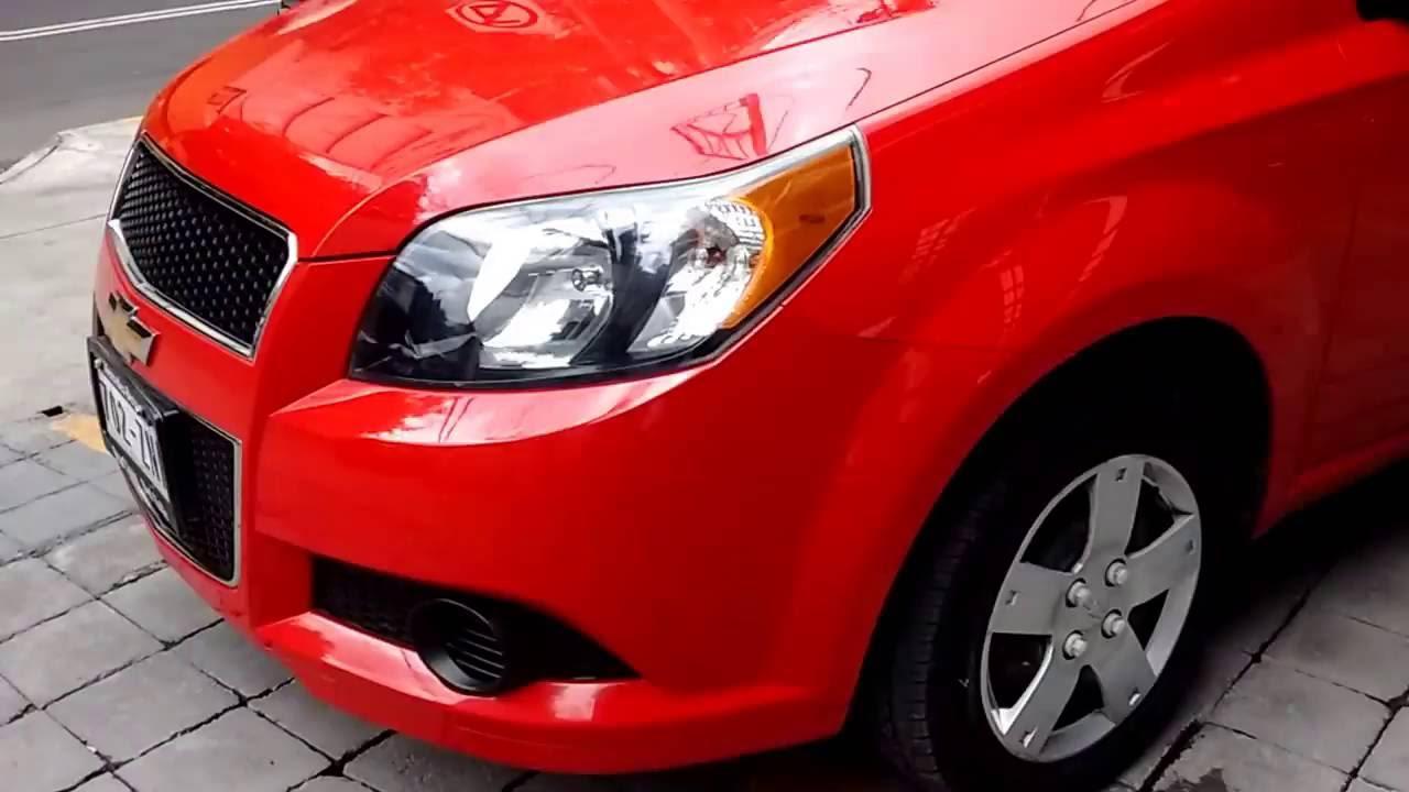 Chevrolet Aveo 2016 >> Chevrolet Aveo Paq. M LS 2014 Color Rojo - YouTube