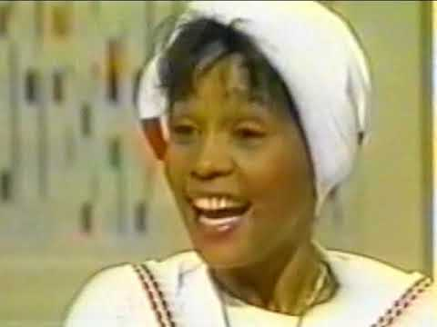 Young Whitney Houston 1986 rare interview