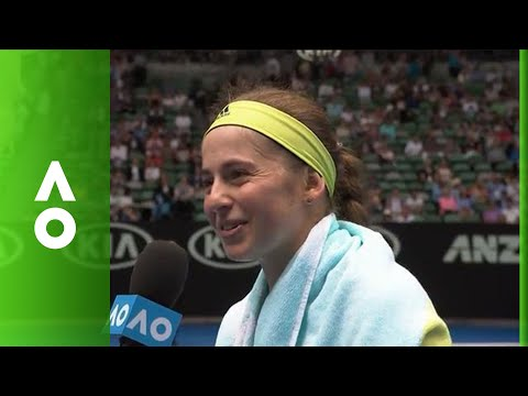 Jelena Ostapenko on court interview (1R) | Australian Open 2018