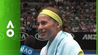 Jelena Ostapenko on court interview (1R)   Australian Open 2018