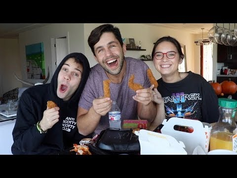 CHICKEN TENDER MUKBANG FT DAVID DOBRIK & ASSISTANT NATALIE thumbnail
